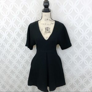 Nasty Gal Black Skater Dress with Pockets